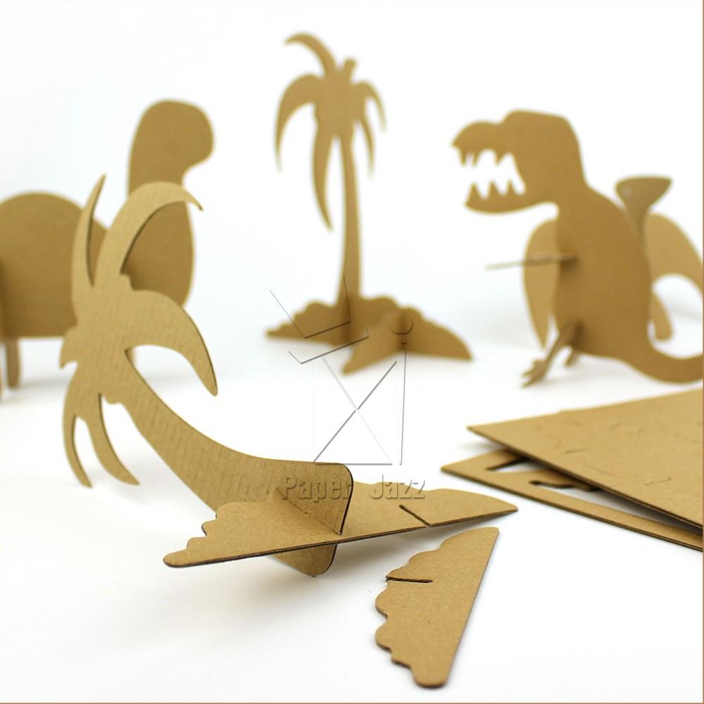 纸箱恐龙制作步骤如下